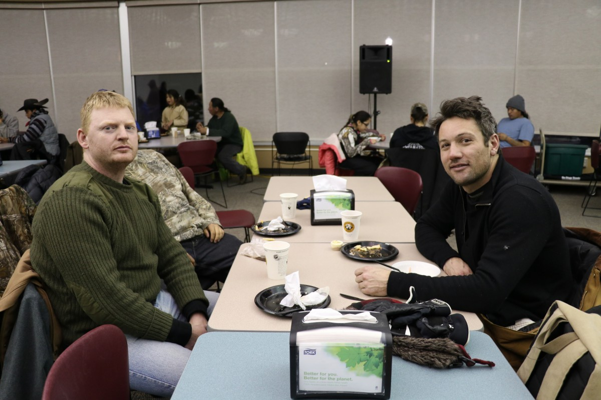 Jeremiah Boyd (left) and Tyler MacLeod are part of the 2016 ride, which stopped in Madison Dec. 14.