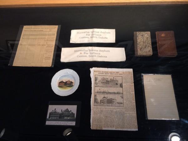 Hiawatha Indian Insane Asylum artifacts