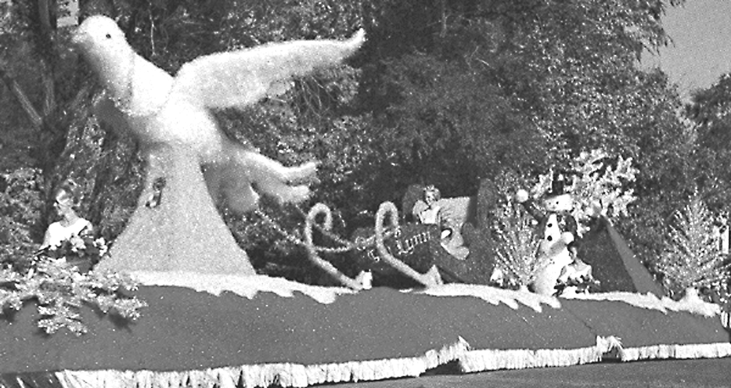 homecoming float from 1967