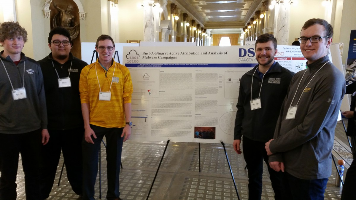student researchers at capitol