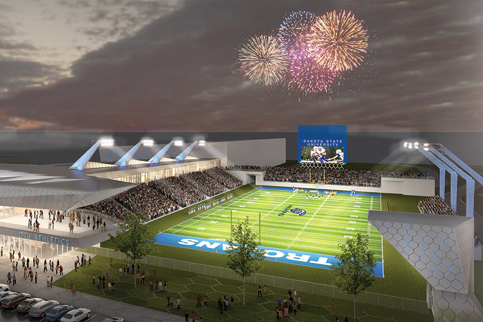 Rendering of DSU Trojan Athletic Complex and Events Center